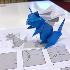 62/365: Cat with wings (mehjg) Tags: angel 365origamichallenge wings cat morigami origami