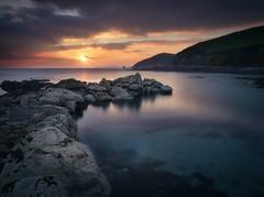 Portwrinkle (Timothy Gilbert) Tags: portwrinkle panasonic1235mmf28x beach wideangle sunset whitsandbay m43 microfourthirds panasonic coast luminar2018 cornwall gx8 boulders rocks