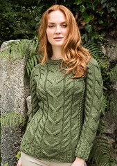 Wife in casual wool jumper (Mytwist) Tags: ardara cable sweater aranstyle green patrick wool knit love passion donegal irish fisherman style fashion retro casual chunky knitted cabled design pullover knitting modern heavy pattern