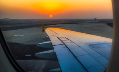 Abu Dhabi International Airport (Andy.Gocher) Tags: abu dhabi andygocher middleeast abudhabi airport a380 aeroplane aeroplaneseat aeroplanewindow wing sunrise sun sunshine window iphone 6s airplane sunset aircraft sky