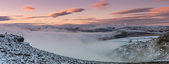 Wintry Sunset (Peter Quinn1) Tags: derwentvalley peakdistrict inversion misty higgertor winter january stanageedge