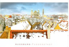 Postcrossing DE-6729360 (booboo_babies) Tags: painting augsburg city winter germany art sky skyline tower postcrossing augsburggermany