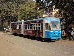 Kolkata 605 Esplanade (Guy Arab UF) Tags: west bengal transport corporation 605 modernised fibre glass bodied articulated tram esplanade terminus kolkata india calcutta tramways tramway streetcar strassenbahn trams