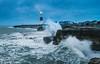 A Rough Morning at Portland (Twiglet Images) Tags: nikond600 portland bill lighthouse cloud sea sunrise sun daytime dorset seaside stone rock splash crashing waves tide hightide
