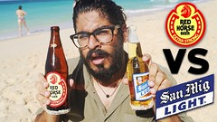 FILIPINO BEER! Red Horse VS San Miguel Beer Taste Test - Puka Shell Beach Boracay (Larry Craftman) Tags: filipino beer red horse vs san miguel taste test puka shell beach boracay