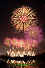 DSC_3520 (Lin.Jian Liang) Tags: 台灣 taiwan 台南 安南區 正統鹿耳門聖母廟 花火迎春牛 2018 107年 山鈦 煙火 fisheye firework nikon d610 105mm 尺玉 12吋