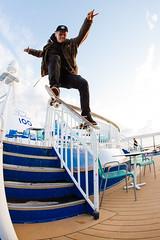 Ronny - Noseslide on a boat! (Juha Helosuo) Tags: skateboarding noseslide handrail style boat boattrip trip travel skate skateboard photography fisheye canon skatelife skateboarder