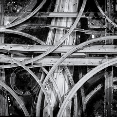 It's Complicated (pbuschmann) Tags: losangeles california unitedstates freeway autobahnkreuz intersection madness arteries life cars harborfreeway dji djiphantom4