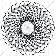 20180128 (regolo54) Tags: celticknot torus torso circle disk handmade mathart regolo54 escher geometry symmetry