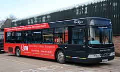 Mortons Travel, Tadley R26 RED at Little London depot. (Gobbiner) Tags: b10ble arriva mortonsoftadley 4513 volvo wright r26red northumbria renown v513dft