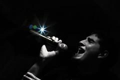 A star is born (alestaleiro) Tags: music sing singer bruno canto chant voice voz mono monochrome monocromo bw bn pb alestaleiro karaokê karaoke karaoké