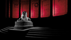War memorial, Aberdeen-5.jpg (___INFINITY___) Tags: 2018 6d aberdeen bw godoxad360 toourgloriousdead architect architecture art blue building canon canon1740f4 color cowdrayhall darrenwright dazza1040 eos flash granite infinity light lightpainting lion magiclantern night red scotland sculpture statue stone strobist uk warmemorial wideangle