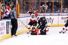 "Kansas City Mavericks vs. Cincinnati Cyclones, February 3, 2018, Silverstein Eye Centers Arena, Independence, Missouri.  Photo: © John Howe / Howe Creative Photography, all rights reserved 2018. • <a style=""font-size:0.8em;"" href=""http://www.flickr.com/photos/134016632@N02/40086496622/"" target=""_blank"">View on Flickr</a>"