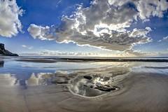 Even Still (pauldunn52) Tags: traeth mawr galmorgan heritage coast wales sand cliffs rock pool reflection clouds