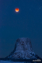 Blood Moon Tower (kevin-palmer) Tags: devilstower devilstowernationalmonument wyoming nikond750 january winter snow snowy cold nikon180mmf28 telephoto fullmoon moon supermoon bluemoon lunareclipse totality red astronomy astrophotography night sky blue twilight dark stars starry bloodmoon 2018 early morning vertical beehivecluster m44 snowfall astrometrydotnet:id=nova2422450 astrometrydotnet:status=solved