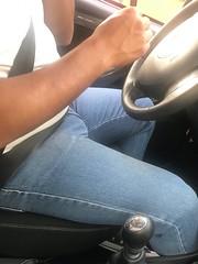 I love big guys with big bulges... (Galito☺) Tags: spreadlegs bigbulge candid uberdriver crotch voyeur spycam spy jeansbulge jeans bulge