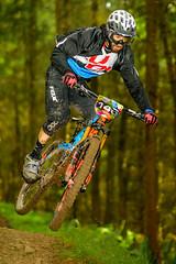 innerleithen rider 146 (practice day) (grahamrobb888) Tags: nikon nikond800 d800 nikkor afnikkor80200mm128ed longlens mtb mountainbike innerleithen forest woods trees sb700 flash speedlight