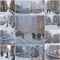 It's snowing in the heart of Amsterdam (B℮n) Tags: fdsflickrtoys damrak dam bijenkorf beursvanberlage tram tram9 amsterdam snow covered bikes holland netherlands canals winter cold wester church jordaan street dutch people scooter gezellig cafés snowy snowfall atmosphere colorful walk walking bike cozy light corner water canal weather cool file celcius mokum pakhuis grachtengordel unesco world heritage sled sleding slee seagull nowandthen meeuw seagulls meeuwen bycicle 1°c sun shadows sneeuw brug slippery glad flakes handheld wind code rood mosaic collection best collage 100faves topf100