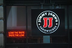 Jimmy John's - Chicago (Cragin Spring) Tags: illinois il midwest unitedstates usa unitedstatesofamerica city chicago urban chicagoillinois chicagoil downtown downtownchicago loop chicagoloop jimmyjohns restaurant sign neon