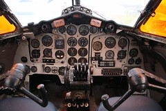 DH114 Heron Cockpit (kitmasterbloke) Tags: dehaviland museum londoncolney hertfordshire uk aviation wreck relic wr civil airliner jet