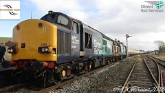 Class 37069+37259 stands at  Hellifield for a 30 minute photostop (17.02.2018) (TOG Trains Photography) Tags: trains transport railroad railway railtour railscene