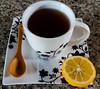 Black Tea With Lemon (IrakliNaneishvili) Tags: tea cup black lemon afternoon flickr february detail detailed white wonderful bright food yellow coffee