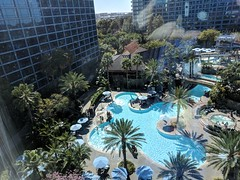 Hotel Room View (earthdog) Tags: 2018 disneyvacation disney vacation2018 hotel window googlepixel pixel androidapp moblog cameraphone outwindow pool disneylandhotel tower building eticketpool needstags needstitle disneyland anaheim california vacation travel