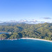 Aerial of Anse Intendance beach Mahe Seychelles
