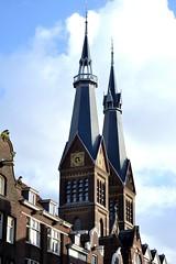 #amsterdam #church #street (robarray) Tags: amsterdam street church