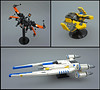 upgrades (Rogue Bantha) Tags: lego midi star wars uwing jedi interceptor blackone xwing t70