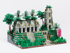 Temple in the Jungles of Celestia, Without Figures (Jonas Wide ('Gideon')) Tags: lego brethrenofthebrickseas jungle ruins