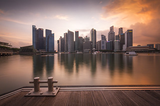 What a view during sunset in Singapore