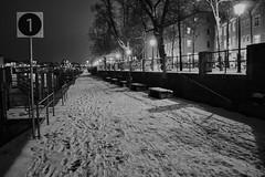 One (mripp) Tags: art vintage retro old city urban stadt snow winter black white mono monochrom donauufer danube night regensburg ratisbonne sony rx1rii