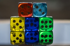 isloated transparent colorful dices (Ciddi Biri) Tags: addiction bet betting casino chance cube dice faith fortune gamble gambling game isolated leisure luck luckynumbers number play risk rules statistic winner roll olympuspenep5 60mmf28macro m43türkiye olympustürkiye m43turkiye