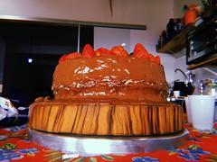her majesty the cake (meeeeeeeeeel) Tags: cake huji hujicam hujiapp bolo birthdaycake bolodeaniversario morangos strawberries chocolate yummy good sweet doce