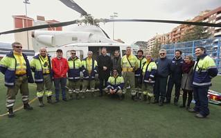 El president de la Generalitat, Ximo Puig, visita la feria de emergencias de Alcoy. (10/02/2018)
