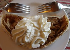 Sharing .... HMM (Mr. Happy Face - Peace :)) Tags: hmm dessert art2018 archives metallic love apple strudel cream fork