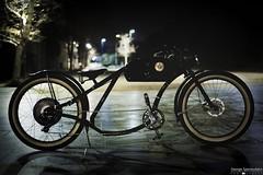 dark ride with otor ride! (George Spanoudakiss) Tags: fuji fujifilm fujiholic fujilove fujixseries fujimadness fujinon fujicamera fujiphotos fujix fujilover fujixpassion xt20 myself athens greece city urban greek night lights street rider ride custom downtown bike bikes bicycle otor otocycles electric vintage chopper