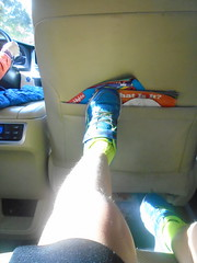 DSC03676 (classroomcamera) Tags: home house car carride ride riding drive driving back backseat foreground background wait waiting leg shoe foot sneaker blue green seat chair pocket stuff light shine sun sunshine sunlight shadow shadows day daytime inside indoors