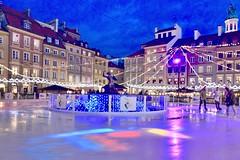 Market Place, Old Town, Warsaw, Poland (leo_li's Photography) Tags: unescoworldheritagesites 波兰 华沙 winter icerink warsaw poland europe 波蘭 華沙 warszawa polska
