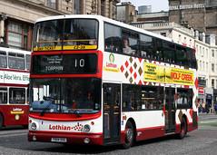 504 T504 SSG (Cumberland Patriot) Tags: lothian buses edinburgh princes street midlothian scotland dennis trident alexander alx 400 alx400 h5125d 504 t504ssg low floor double deck decker bus harlequin derv diesel engine road vehicle public transport 10 torphin