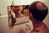 sunday, backshaving-time.. (Walther Le Kon) Tags: analog film moi back shaving hair cutting haircut takenbyelmgrethe friseuse frisiert