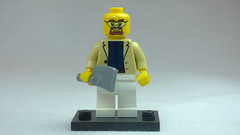 Brick Yourself Custom Lego Figure Smartley Dressed Butcher with Meat Cleaver