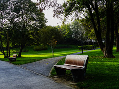 Empty bench (apploadr) Tags: empty bench banc parc park seat siege green greenery vert verde verdure image sony place arbres arboles trees beautifulearth
