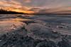 Fire and Ice (jcernstphoto) Tags: masonneck sunset ice belmontbay frozen winter icy masonneckstatepark virginia