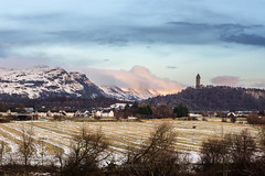 Dumyat and Abbey Craig (ibriphotos) Tags: kildean18 wallacemonument legacylens stirlingweather stirling minoltamdrokkor50mm117 oldglass weather winter snow