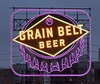 The iconic 1941 neon Grain Belt Beer sign lit up in Minnesota Vikings football team color of purple in downtown Minneapolis, MN. (thstrand) Tags: bottlecaps motifs motif bottlecap urban city brands brand restoration restored preservation landmarks landmark 1941 1940 industry commerce businesses business american us usa grainbeltbeer old vintage 20thcentury 1940s brewery alcohol drinks alcoholicdrink breweries augustschellbrewingcompany beers historic iconic icon billboard advertisement advertise advert advertising unitedstates mn minneapolis downtown nighttime night morning evening signs neonsign lavender colorpurple teamcolors minnesotavikingsfootball