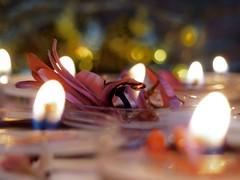 A    L I T T L E   S P A R K (Vivi Black) Tags: kerzenlicht light candels burning macro flame bokeh macromondays