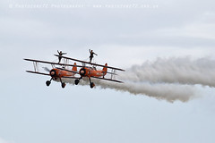 6358 Breitling Wingwalkers (photozone72) Tags: aviation airshows aircraft eastbourne airshow props canon canon7dmk2 canon100400f4556lii 7dmk2 breitlingwingwalkers breitling wingwalkers stearman boeing biplane