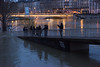 At the Pier (MrBlackSun) Tags: seine paris river flood floods inondation january 2018 nikon d810